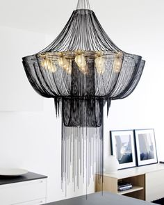 Gorgeous chained chandelier