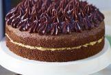 John Whaite's Chocolate chiffon cake with salted caramel butter cream