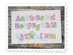 Fun and Funky Applique Font 2
