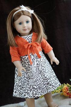 American Girl Doll Clothes 18'' Leopard Print by MyDressedUpDoll, $15.00