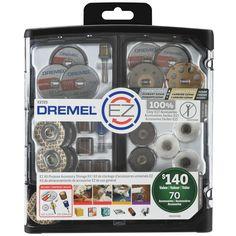 Dremel EZ Lock All-Purpose Rotary Tool Accessory Storage Kit (70-Piece)