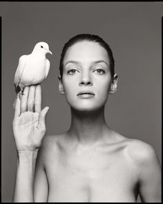 Uma Thurman, New York, February 23, 1996 #richardavedon