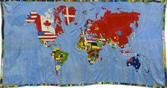 Mapa, 1971-1972, 201, 9 x 374, 7 cm, Glenstone, © Alighiero Boetti by SIAE/VEGAP, 2011.