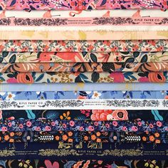 """CottonandSteel on Instagram: """"It's the last of our #sneakpeekfridays before #quiltmarket!! This week we're sharing Les Fleurs, the debut fabric collection from @riflepaperco designed by @annariflebond. Les Fleurs translates Rifle Paper Co.'s signature flora, fauna and cityscapes to 25 high quality #cottonandsteel substrates. Les Fleurs is available for shops to order now and will ship in August! #lesfleursfabric #riflepaperco"""""""