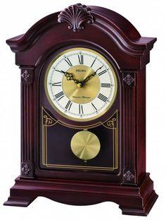 Seiko mantel clock with westminster whittington chime qxj008blh