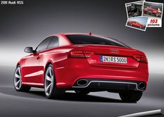 Red Audi Coupe, just to add it to the tri main colour collection. Red Audi, Audi Rs5, Car Makes, Automotive Art, Car Wallpapers, Hot Cars, Car Pictures, Cars Motorcycles, Dream Cars