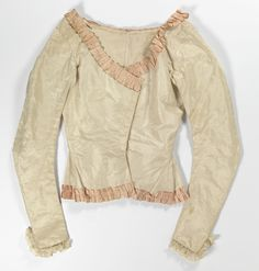 Bodice: ca. 1775-1800, Norwegian, hand-woven silk lined with linen, silk ties, lace. .