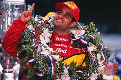 Juan Pablo Montoya wins the Indianapolis 500