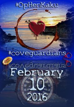 TAIJI. February 10, 2016: BLUE COVE!!! #CoveGuardians ‪#‎OpHenkaku #‎SeaShepherd‬ ‪#‎FromTaijiToTanks ‪‬‬‬‬‪‬‬‬‬#‎tweet4taiji