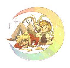 Usagi and Haruka javorszarvas.tumblr.com