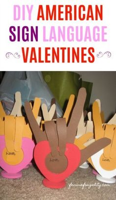 Pinning so I can help my kids make these sign language Valentines in February! Sign Language Games, Sign Language Basics, Sign Language For Kids, Sign Language Phrases, Learn Sign Language, American Sign Language, Classroom Language, Language Activities, Cars Preschool