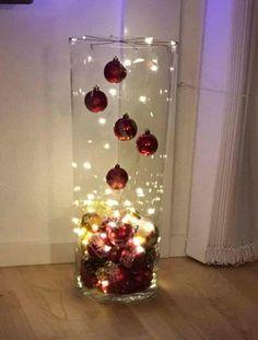 Easy Christmas Decorations, Christmas Lanterns, Christmas Centerpieces, Christmas Wreaths, Christmas Ornaments, Table Centerpieces, Silver Christmas, Simple Christmas, Christmas Holidays