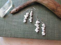 White Stone Earrings, Natural Earrings, Gemstone, Marble Earrings, White Rock Earrings, Howlite Stone Earrings by StarLoved on Etsy https://www.etsy.com/listing/483700713/white-stone-earrings-natural-earrings