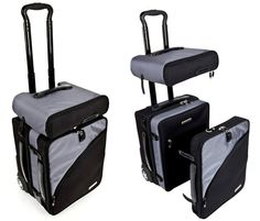 Truco Roller Bag Splits Into Pieces For EasyStowage