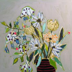 ❀ Blooming Brushwork ❀ garden and still life flower paintings - Frolick-y by Lulie Wallace.