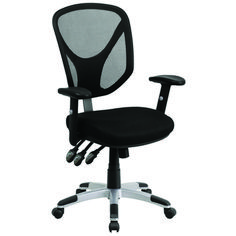 Offex Mid-Back Black Mesh Chair with Triple Paddle Control and Height Adjustable Arms - Black Best Office Chair, Executive Office Chairs, Desk Office, Large Home Office Furniture, Modern Furniture, Office Chair Cushion, Mesh Chair, Single Chair, Ergonomic Office Chair