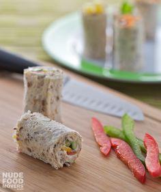 Capsicum, cucumber & cream cheese