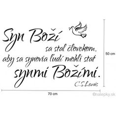 Křesťanské samolepky na zeď - Citát - Syn Boží - Slovensky Arabic Calligraphy, Faith, Arabic Calligraphy Art, Loyalty, Believe, Religion