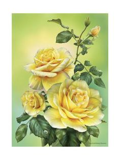 DIY Diamond Painting Diamond Embroidery Bouquet of Roses Art Rhinestones Mosaic Kits Flowers Pictures Bedroom Decor Crafts Plant Drawing, Drawing Room, Cross Paintings, Arte Floral, Yellow Roses, Yellow Art, Botanical Art, Beautiful Roses, Vintage Flowers