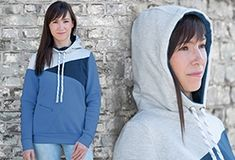 Schnittmuster Freestyle-Hoodie mit Patchwork-Optik