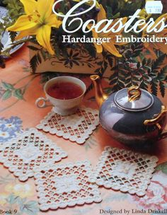 Linda Driskell COASTERS - Hardanger Embroidery