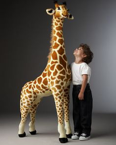 Tall Giraffe Plush at Neiman Marcus - would be awesome for a kids room...  someday!