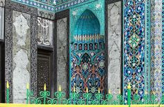 Beautiful mosaic of mosque in Saint Petersburg, Russia view 5