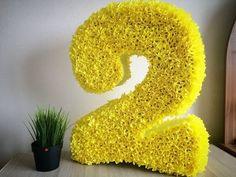 ОБЪЕМНАЯ ЦИФРА ДВА из картона и гофрированной бумаги. Подробный мастер-класс. - YouTube Baby Birthday Cakes, Baby Girl Cakes, 2nd Birthday, Happy Birthday, Birthday Parties, Fabric Flowers, Paper Flowers, Birthday Numbers, Letter A Crafts
