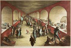 ARDIZZONE Edward R.A. (1900-1979) 'Shelter Scene'; the Tilbury Shelter, Stepney. Lithograph. 1941.