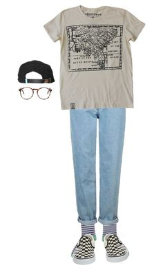 """idc"" by aliennbby on Polyvore featuring Vans, Topshop and King Apparel"