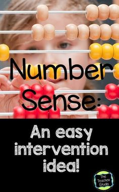 Bright Idea:  Math Intervention Idea...a quick and easy-to-make activity to help reinforce number sense.  Check out the pics to show you how to make it yourself...