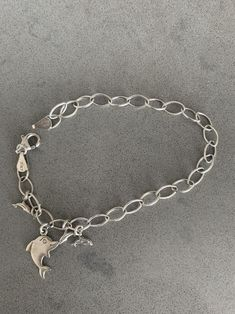 Vintage Abstract Nature Theme Silvery Bracelet From Germany