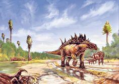 Reconstruction of Hungarosaurus by Tibor Pecsics
