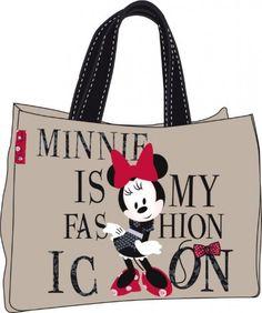 """"""" Minnie is My Fashion Icon"""" Disney Minnie Borsa Spalla Shopper, abbigliamento , borse e accessori disney ragazza - TocTocShop.com -"""