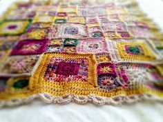 """Another pinner wrote: """"I really love this afghan. the use of color is phenomenal. these are special yarns...not acrylic."""" = Is this the same afghan I pinned earlier? I haven't found the pattern or technique yet."""