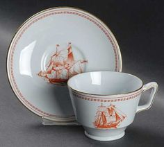 Spode Trade Winds-Red Salad Plate | Sea-Themed China Patterns ...
