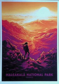 Screen Print Poster, Poster Prints, Type Posters, Art Prints, Dan Mumford, Most Visited National Parks, Dark Ink, National Park Posters, Pop Culture Art