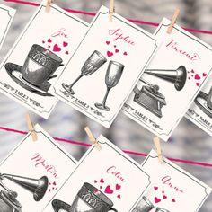 Vintage Romance - Plan de table - Etiquettes - Plan de Table - Réception & Cérémonie ❤ Pepper And Joy Pepper, Playing Cards, Romance, Table, Vintage, Wedding Ideas, Romance Film, Romances, Playing Card Games