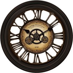"FirsTime Oversized 24"" Gear Works Wall Clock"