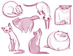 021: Cat Doodle Dump A bunch of kitty scribbles! Yeah. Grumpy Cat made an appearance ;)