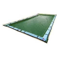 Blue Wave Silver 12-Year 25' x 45' Rectangular In-Ground Pool Winter Cover, Green