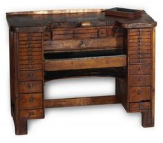 Antiquorum - Jeweler's Bench A wooden jeweler's bench. Made in the late 19th or early 20th century.