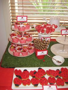 """Photo 8 of 32: Ladybug Garden Afternoon Tea / Birthday """"Miss Charlotte's 1st Afternoon Garden Party"""" 