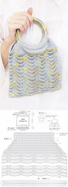 Элегантная сумка крючком Modern Crochet Patterns, Crochet Purse Patterns, Crochet Clutch, Crochet Handbags, Crochet Purses, Crochet Bags, Crochet Stitches Chart, Crochet Diagram, Thread Crochet