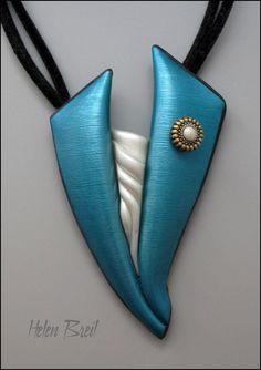 Polymer Clay Pendant by Helen Breil via Flickr