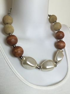 Chunky neutral statement choker  by Afrigal Designs