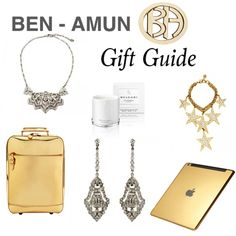Our gift guide is simple - sparkles and gold. #benamun #giftguide