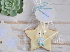 Galletas decoradas bautizos - Modelo Estrella Bebé - Cukie Project