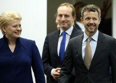 Denmark's Crown Prince Frederik and Lithuania's President Dalia Grybauskaite, 9 October 2013
