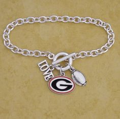 Georgia Bulldogs Football Logo Bracelet